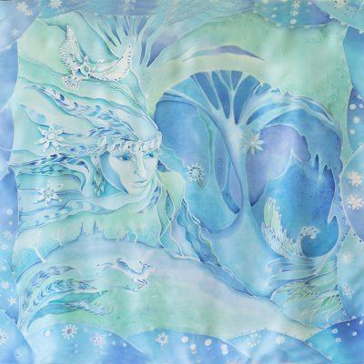 """""""Snow Queen"""" Silk Scarf & Wall Decor"""