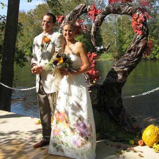 wedding wedding dress floral wedding hand painted wedding dress fall wedding silk painting mermaid silk