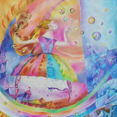 """""""The Dance"""" Silk Scarf & Wall Decor"""
